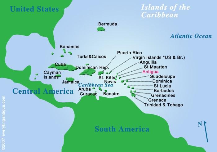 巴巴多斯岛 世界地图